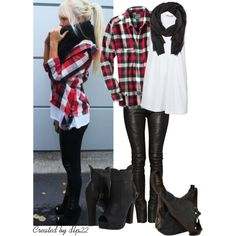 Plaid and Black, created by dlp22 on Polyvore