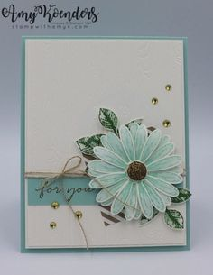 I used the Stampin' Up! Daisy Delight stamp set bundle and Happy Wishes Sale-a-bration stamp set to create my card for the Happy Inkin' Thursday Blog Hop today. We've got a color challenge this we…