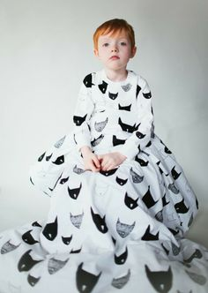 Beau Loves spring 2014 closer view of the bat mask graphic design for kidswear and bedding