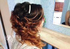 Греческая коса из локонов. Локоны на бок. Лозница Вика