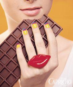 Nail art e chocolate, hummm