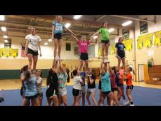 River Bluff High School Varsity Cheerleading Squad - SCHSL runner-up Cheer Jumps, Cheer Stunts, Cheer Dance, Cheer Pyramids, Cheerleading Pyramids, Football Cheerleading, Cheerleading Videos, Cheerleading Stunting, School Cheerleading