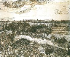 View of Arles from a Hill Vincent Van Gogh Reproduction   1st Art Gallery