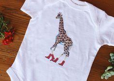 Giraffe Baby Romper Onesie® animal clothes Kid's by KaringVibes
