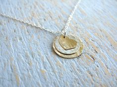 Layered Circle & Heart Necklace