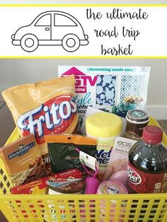 Wife Mommy Me: The Ultimate Road Trip Basket  Who's traveling this Spring? With Spring Break coming up, it's time to plan for your trip and my ultimate road trip basket will have your needs covered!