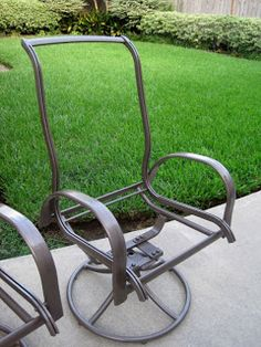 Sharlottes Reflections: A Little Transformation... Redo Patio Furniture