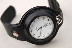 Excellent leather pocket watch strap