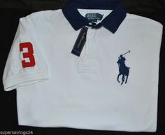 New X-Large XL POLO RALPH LAUREN Mens Big Pony Rugby shirt classic fit  White top 1912d13e35c0
