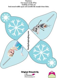 Favor Box, Frozen, Favor Box - Free Printable Ideas from Family Shoppingbag.com                                                                                                                                                                                 Mehr