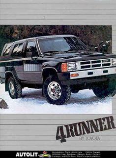 1984 Toyota 4Runner Sales Brochure mw5051-Y4DQVQ Toyota 4x4, Toyota Trucks, Rc Trucks, Toyota 4runner, 4runner Off Road, Compact Pickup Trucks, 1st Gen 4runner, Vintage Ads, Offroad
