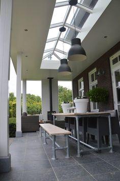 Glass Porch, English Farmhouse, New Home Wishes, Patio Privacy, Backyard Patio Designs, Backyard Retreat, Deck With Pergola, Contemporary Garden, Back Patio