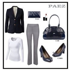 #PAEZ Outfit #Zapatos #Cartera #Billetera #Azul #Cuero #Tacos #Shoes #Blue #OfficeLook