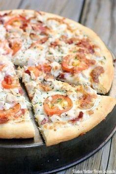 Garlic-Ranch Chicken Pizza
