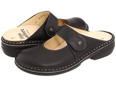 """Finn Comfort """"Stanford""""  Black Leather. Made in Germany."""