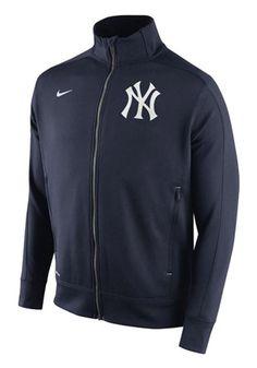 Nike NY Yankees Mens Navy Blue Dri Fit Track Jacket 1.5 Track Jacket