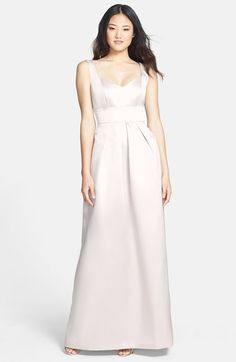 Alfred Sung Sweetheart Sateen Twill Gown | Nordstrom