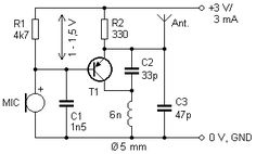 2 km FM Transmitter Circuit Diagram, Working and