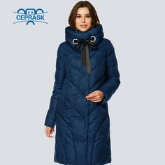 214ab2e9bfe CEPRASK 2018 High Quality New Winter Jacket Women Parks Plus Size Long  Fashionable Warm Women s Winter