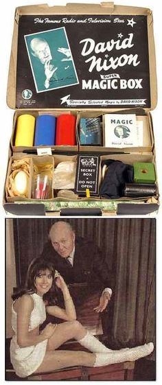 I still recall the joy and anticipation of getting this David Nixon Magic Box.and the disappointment that Santa brought it instead of Anita Harris! Children's Toys, Kids Toys, Magic Secrets, 1960s Toys, Magic Box, Childhood Toys, Teenage Years, Old English, The Conjuring