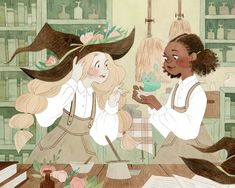 Even witches have lab partners! What were your favorite subjects in school? Mine… Even witches have lab partners! What were your favorite subjects in school? Mine were – predictably – English and art, but I also liked science. Art And Illustration, Arte Inspo, Kunst Inspo, Cartoon Kunst, Cartoon Art, Fantasy Kunst, Fantasy Art, Pretty Art, Cute Art