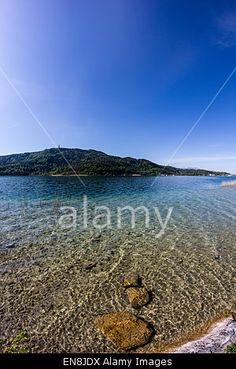 #Lake #Woerthersee #View From #Beach #Poertschach @alamy #alamy @carinzia #ktr15 @meinwoerthersee #carinthia #austria #nature #landscape #season #spring #summer #travel #holidays #vacation #stock #photo #portfolio #download #hires #royaltyfree