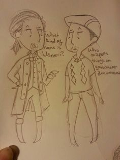 Tiny Ham and Tiny Usnavi. The sass of these two. Petition for a HamforHam show! Theatre Geek, Musical Theatre, Lin Manual Miranda, Hamilton Fanart, Hamilton Lin Manuel Miranda, Washington Heights, Hamilton Musical, And Peggy, What Is Your Name