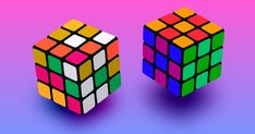 The Rubik's Cube is a spinning puzzle invented in 1974 by Ernő Rubik. Although the magic cube has been around for a few years, it is still very popular. Cube Games, Puzzle, Inventions, 4x4, Color Schemes, How To Memorize Things, Magic, Classic, Games