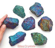 1 Jumbo CHALCOPYRITE Peacock Ore Crystal by BlissCrystals on Etsy