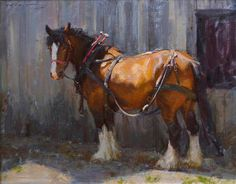 Horse painting by Mark Malm