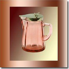 Heisey Glass Flamingo Syrup c. 1925 - 1935 on Ruby Lane