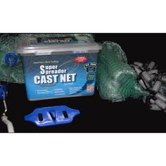 Fitec SS1000 Super Spreader 6' x 1/2 inch Cast Net, Multicolor