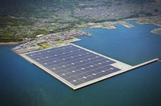 Japan To Build World's First Huge Floating Solar Power Plants -  [Click on Image Or Source on Top to See Full News]