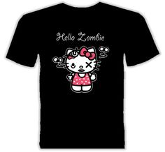 257ff8be3 10 Fantastic Vampire, Zombie & Alien T-Shirts: Zombie Hello Kitty Gothic  Shirts