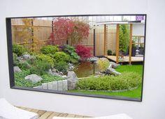 Japanese Garden Display at Coolings - The Japanese Garden Centre Japanese Garden Design, Water Features In The Garden, Garden Ornaments, Pathways, Bouldering, Landscape Design, Garden Centre, Aquarium, Indoor
