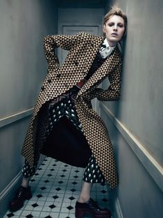 Pretty Awkward  GO TO ARTICLE »  Photography MIKAEL JANSSON  Stylist KARL TEMPLER  ALL CLOTHING AND ACCESSORIES: PRADA.