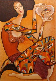 "Wlad Safronow ""Angel with Coral Fish"" ✿≻⊰❤⊱≺✿"