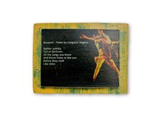 Wood picture | wall art | picture | poem on a board | langston hughes | gift