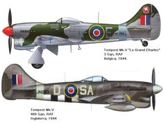 AVIÕES MILITARES: Hawker Tempest