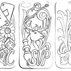 Free Leather Design Patterns - Don Gonzales Saddlery Kostenlose Leder Design Pa. Leather Craft Tools, Leather Projects, Leather Crafts, Leather Holster, Leather Tooling, Leather Design, Leather Working Patterns, Tandy Leather, Leather Carving