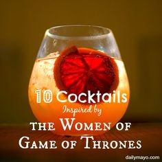 Love the Game of Thrones? Celebrate your love in the most sophisticated way possible with these 10 Cocktails Inspired by the Men of Game of Thrones. Party Drinks, Cocktail Drinks, Fun Drinks, Yummy Drinks, Cocktail Recipes, Beverages, Drink Recipes, Game Of Thrones Drink, Game Of Thrones Cocktails