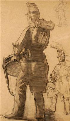 Floris Arntzenius (1864-1925) - Study of a drummer