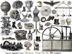 StEaMpUnK - ViNtAgE cLiP aRt - Digital Collage Sheet (no 135)