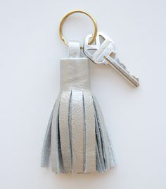 DIY Leather Tassel Keyring | Lovely Indeed - I have been wanting to buy one of these, so why not make it?