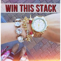Remember that GORGEOUS stack we posted yesterday? Well, we're giving it away in a red version! TO ENTER: FOLLOW us on Instagram (@frockcandy) and like this photo. Winner will be announced TOMORROW at 5PM CST
