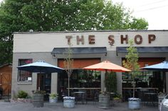 The 8 Best Spokane Coffee Shops - Coffee Cafe Bar, Coffee Can Forge, Bbq Company, Garage Cafe, Cafe Exterior, Design Café, Menu Design, Shop Doors, Coffee World