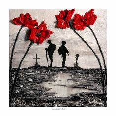 'Remember And Reflect' - POSH Original Art by Jacqueline Hurley Remembrance Poppy painting soldier Remembrance Day Posters, Remembrance Day Poppy, Remembrance Day Drawings, Remembrance Day Images, Tattoo Studio, Wordpress Theme, Ww1 Art, Original Paintings, Original Art