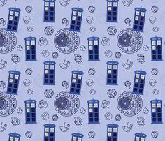 Madman in a Blue Box fabric by studiofibonacci on Spoonflower - custom fabric