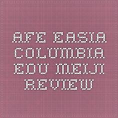 afe.easia.columbia.edu Meiji Review
