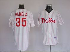Cole Hamels White Jersey $18.99  This jersey belongs to Cole Hamels, Philadelphia Phillies #35  Color: white, Size: M, L, XL, XXL, XXXL  The jersey is made of heavy fabric with nylon diamond weave mesh